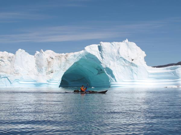 Greenland sea kayaking tour