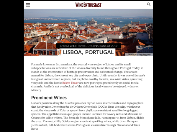 Lisbon wine and walking short break in Portugal