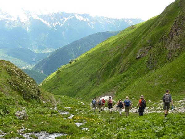 Hiking in the Caucasus holiday