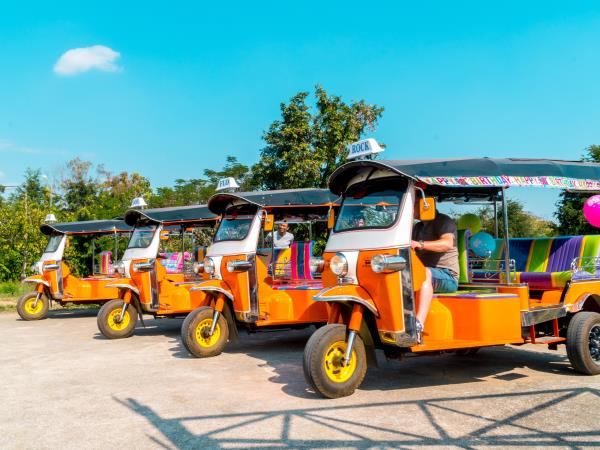 Thailand adventure holiday, self drive Tuk Tuk