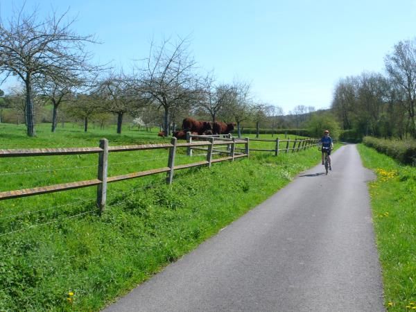 Normandy cycling tour, the veloscenie bikeway