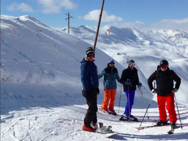 Skiing holiday in Iran