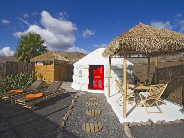 Lanzarote yurt holiday, eco palm yurt