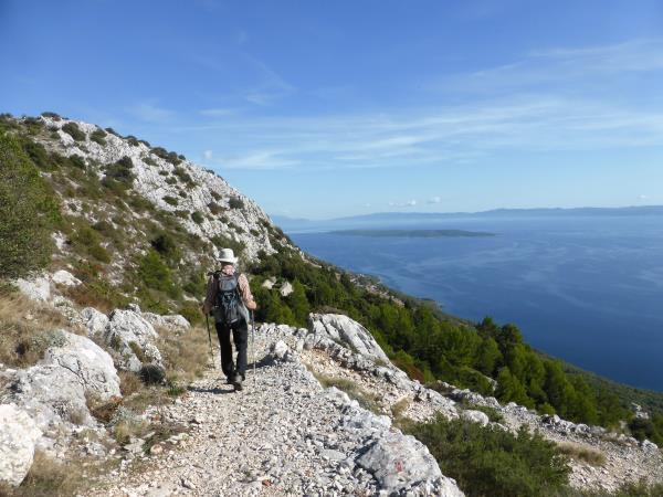 Croatia self-guided trekking holiday, Dalmatian Islands