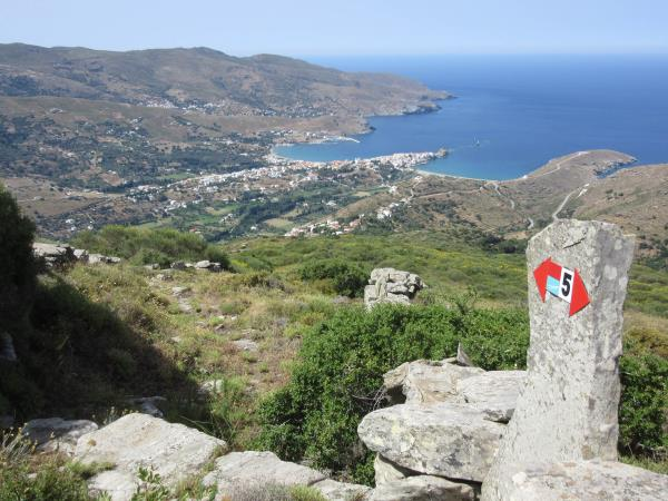 Andros trail walking holiday in Greece
