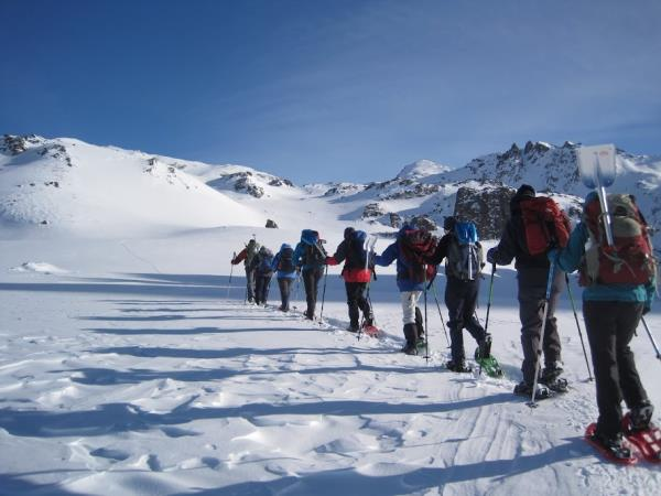 Saint V�ran snowshoeing holiday in the French Alps