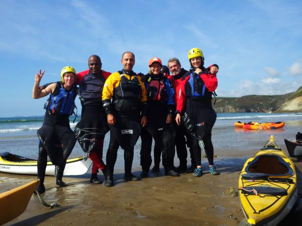Sea kayaking short break in Pembrokeshire