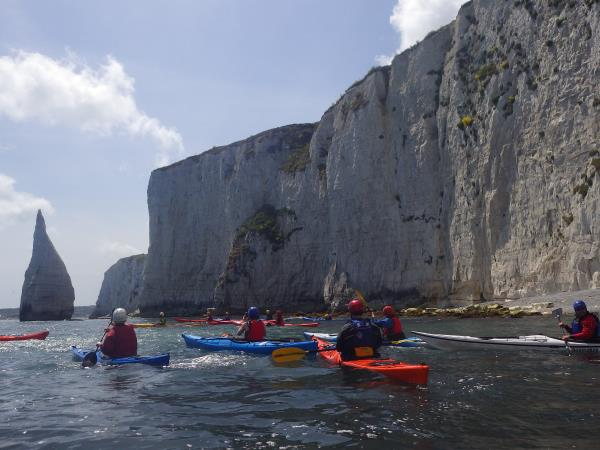 Sea kayaking short break in Dorset