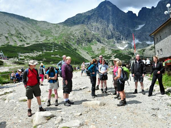 Walking in the Tatras mountains in Slovakia holiday