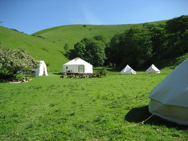 South Downs yurt holidays in Sussex, England