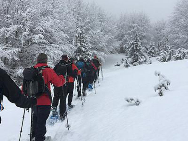 Snowshoeing holiday in the Balkans