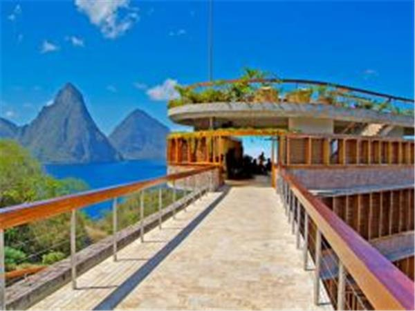 Luxury resort in Saint Lucia, Jade Mountain