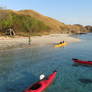 Sea kayaking the Komodo Islands