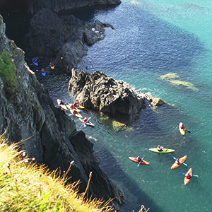 Sea kayaking in Wales