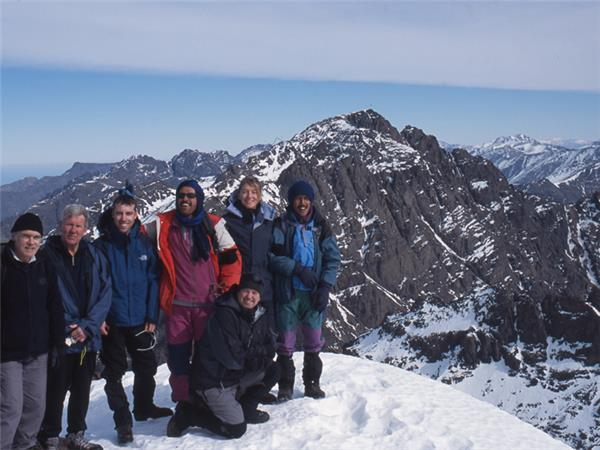 Mount Toubkal winter climb, Morocco