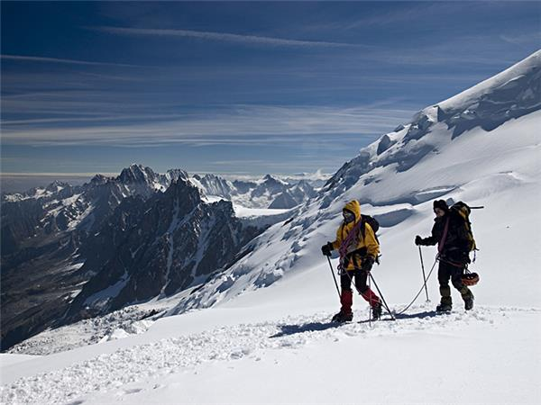 Mont Blanc ascent climbing holiday, France