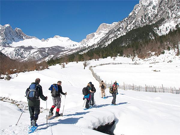 Albania snowshoeing holiday