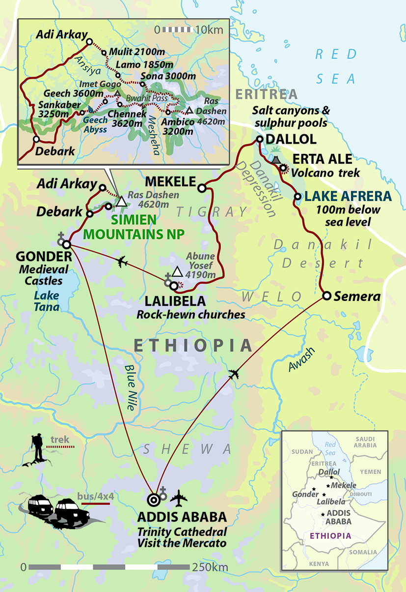 Ethiopia charity trek lowest to highest in 18 days Helping Dreamers Do