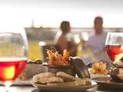 Food and win at Barossa, South Australia. Photo by South Australia Tourist Board
