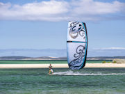 Kite Surfing at Eyre, South Australia. Photo by South Australia Tourist Board