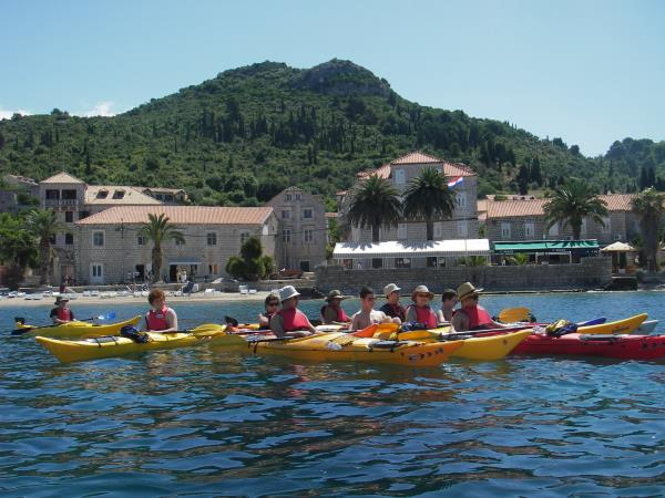 Family sea kayaking holiday in Croatia
