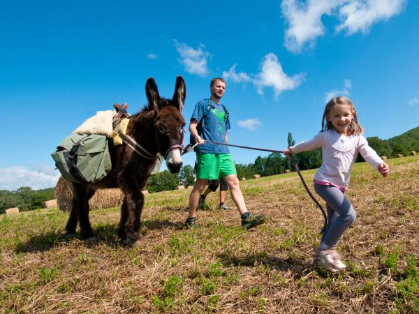 Family walking holidays with a donkey, France