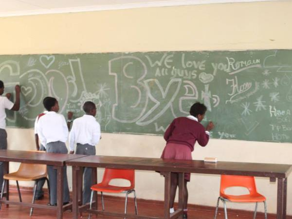 Teaching assistant volunteering in South Africa