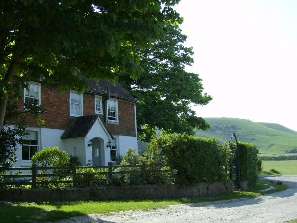 South Downs farmhouse, Alciston, England