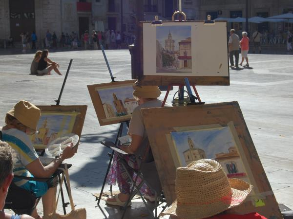 Painting holiday in Valencia, Spain