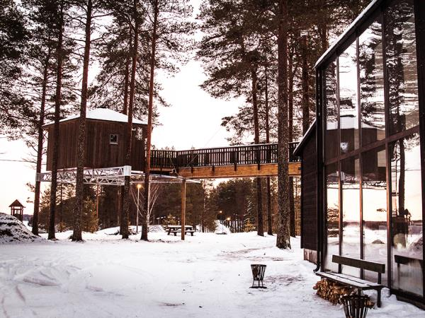 Sweden treehouse holiday, Grano Beckasin