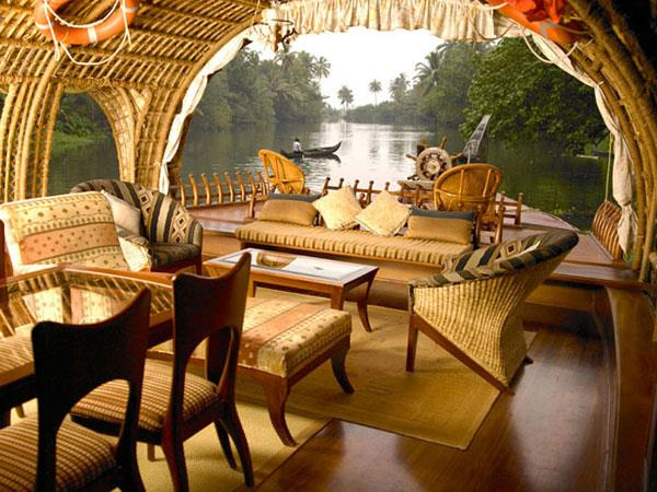 Kerala houseboat holiday, India