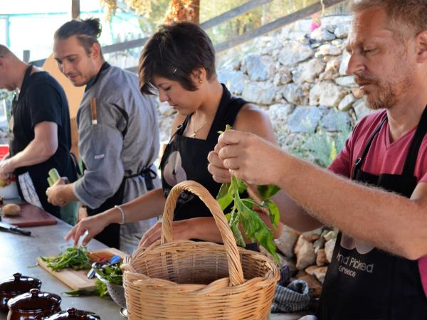 Crete cooking holiday, vegetarian and vegan cuisine