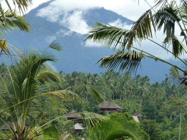 Bali eco lodge bungalows in Indonesia