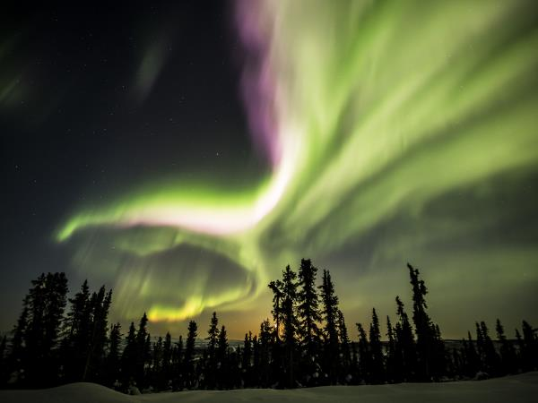 Yukon northern lights holiday in Canada