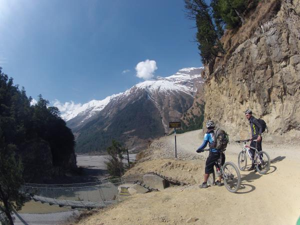 Down hill mountain biking tour in Nepal