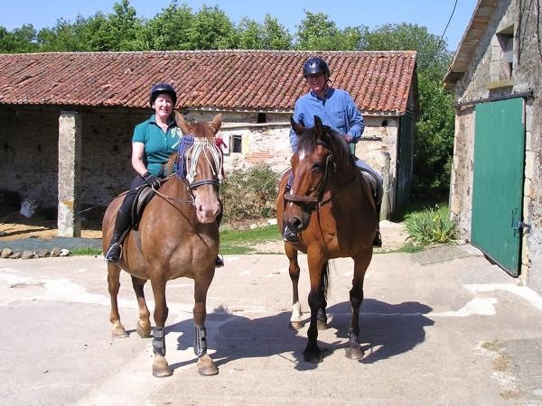 Horse riding holiday in France