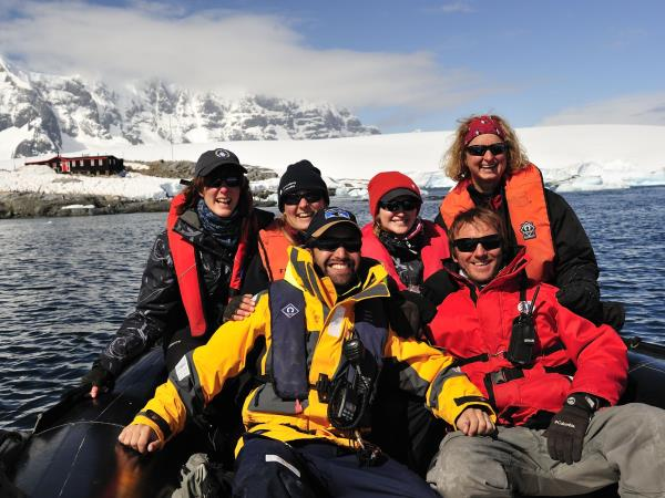 Antarctic expedition cruise, fly the Drake passage