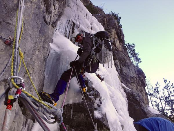 Ice climbing holiday in the French Alps