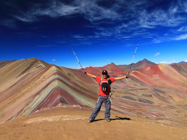 Rainbow Mountain trek in Peru