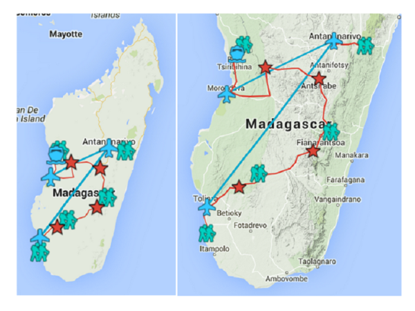 Complete tour of Madagascar, tailor made