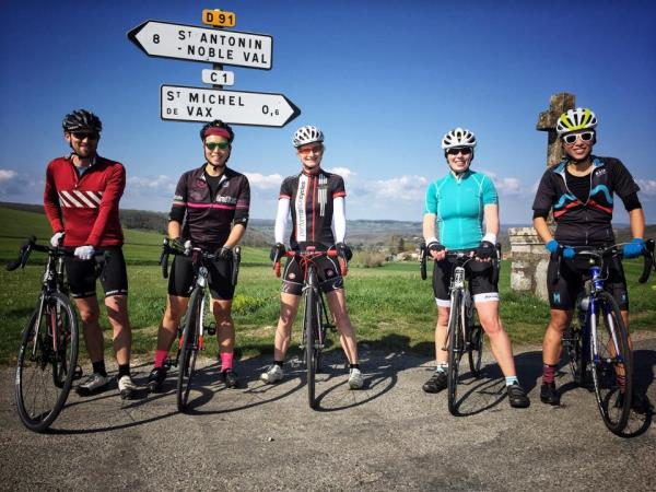 Road cycling training breaks in southern France
