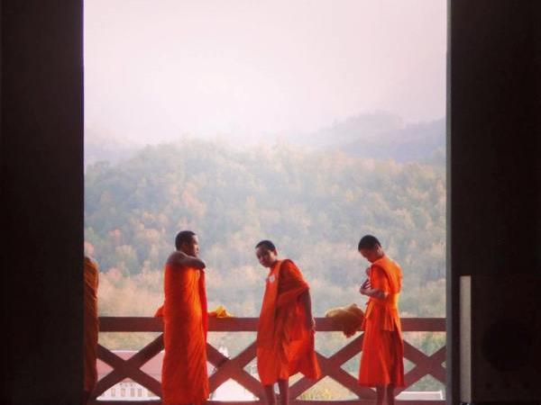 Teach English to monks in Laos