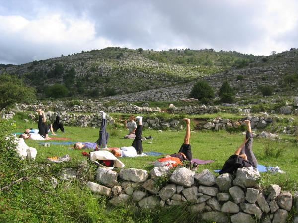 French Riviera holiday, with morning yoga