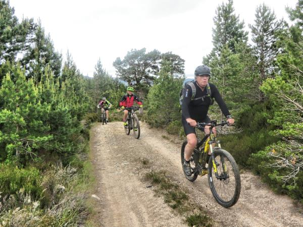 Cairngorms mountain biking short break, Scotland