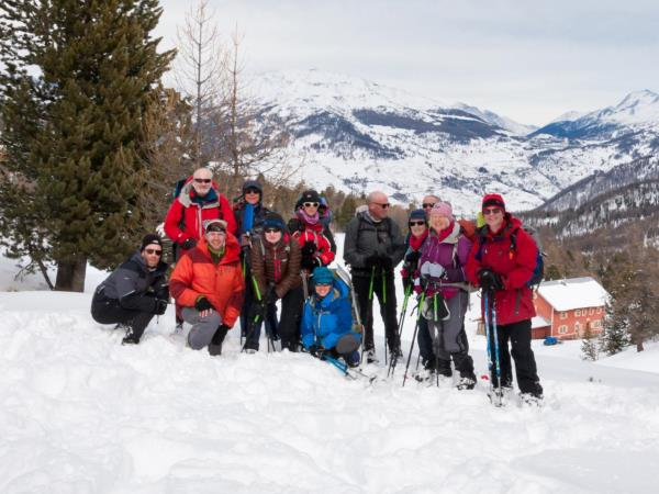 Snowshoeing holiday in France and Italy border