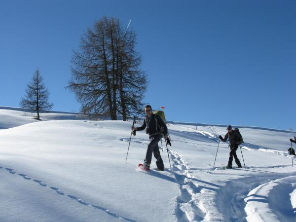 Snowshoeing in the Southern Alps, France