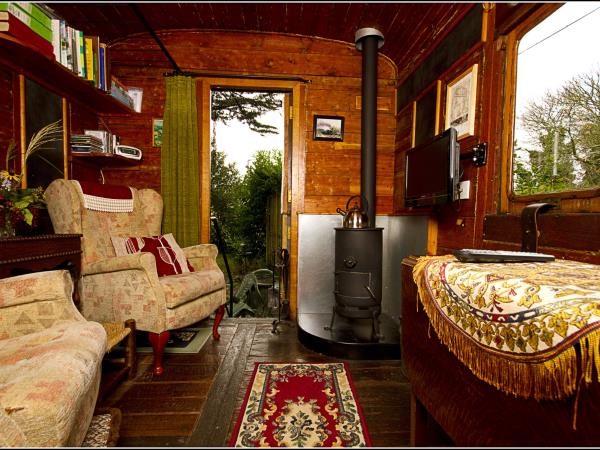 Unusual accommodation in Cornwall, a railway carriage