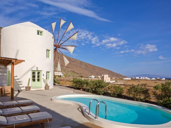 Santorini villa holiday in a converted Windmill, Greece