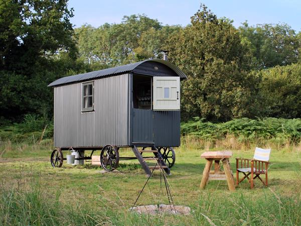 South Downs shepherds hut, nr Hambledon, England