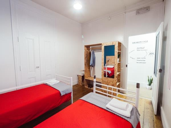 Eco hostel in Lisbon, Portugal